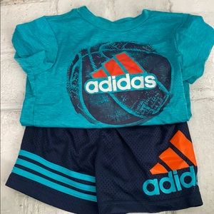 Toddler Boy Shorts and Short Sleeve T-Shirt Outfit